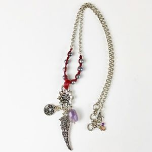 Lucky Brand Angel Wing Marcasite Charm Necklace